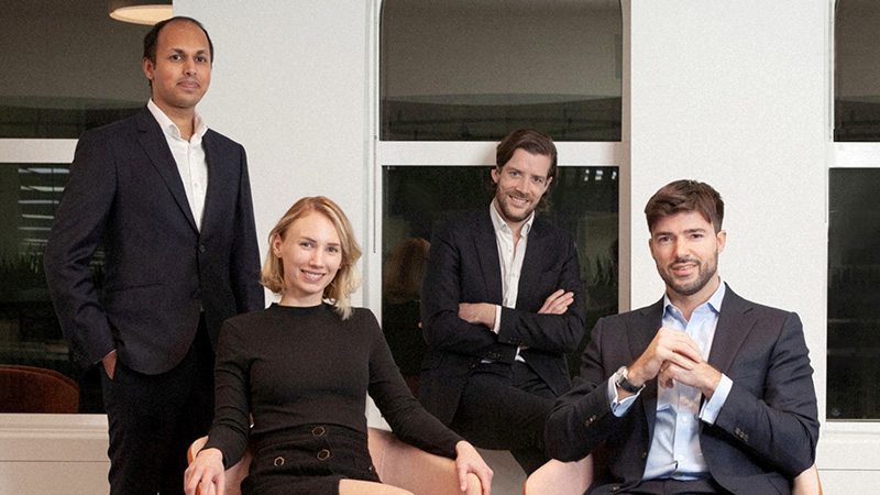 Regnan's impact investment team (l-r) Mohsin Ahmad, Maxine Wille, Maxime Le floch and Tim Crockford
