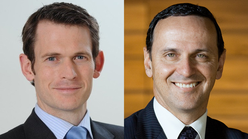 Nicholas Good (left), CEO of J O Hambro Capital Management's US operations will succeed Emilio Gonzalez (right) as Pendal Group global CEO.